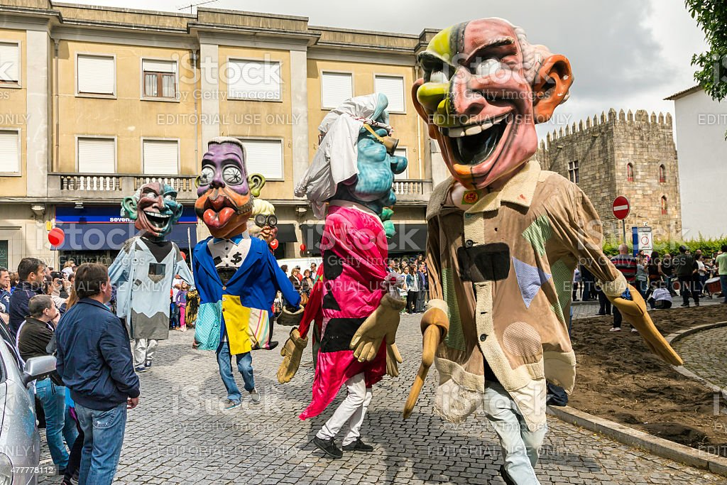 """Giants and Big-Heads"" in a festival in Braga stock photo"