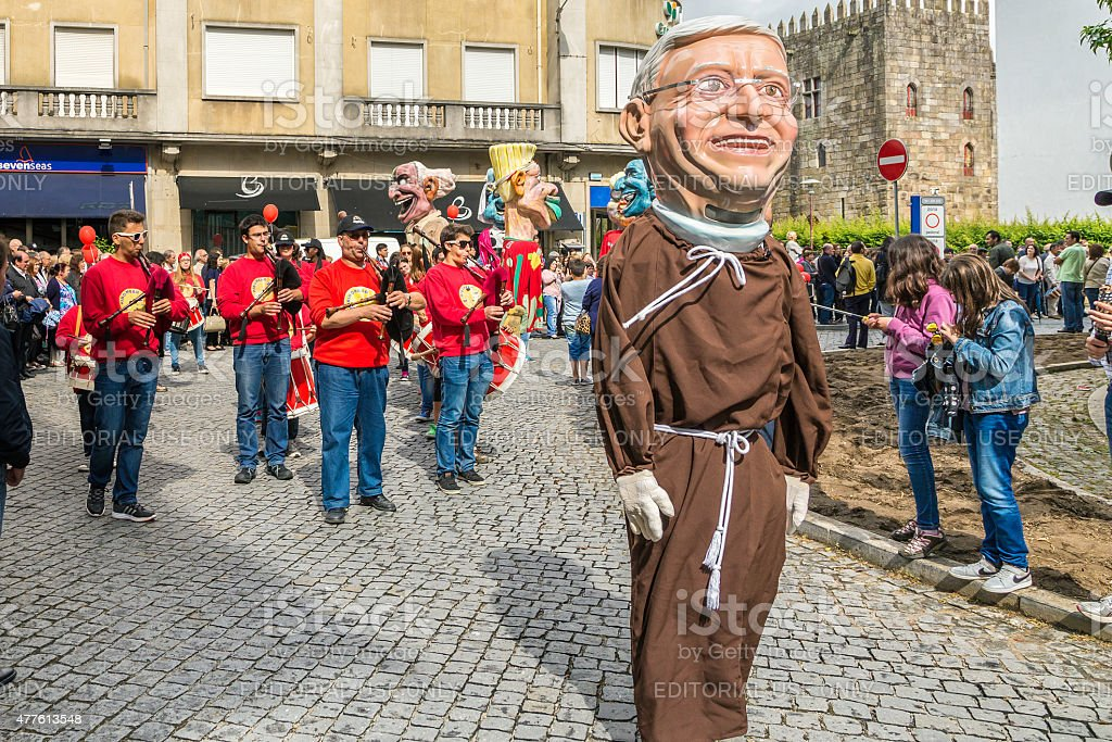 """Giants and Big-Heads"" in Braga's Sao Joao stock photo"