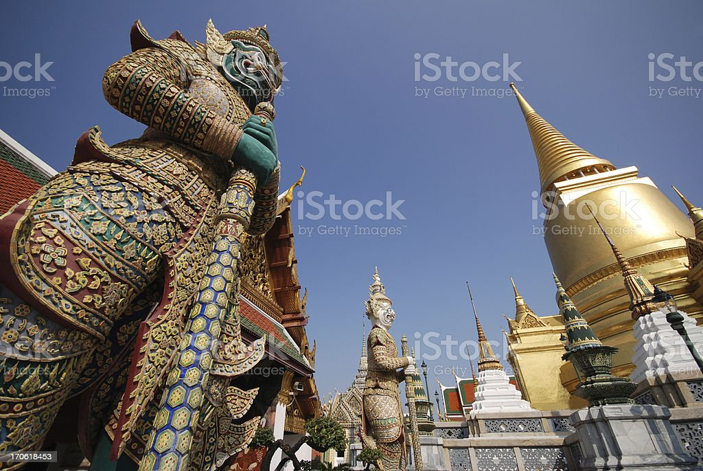 Giants and  Gold Pagoda royalty-free stock photo