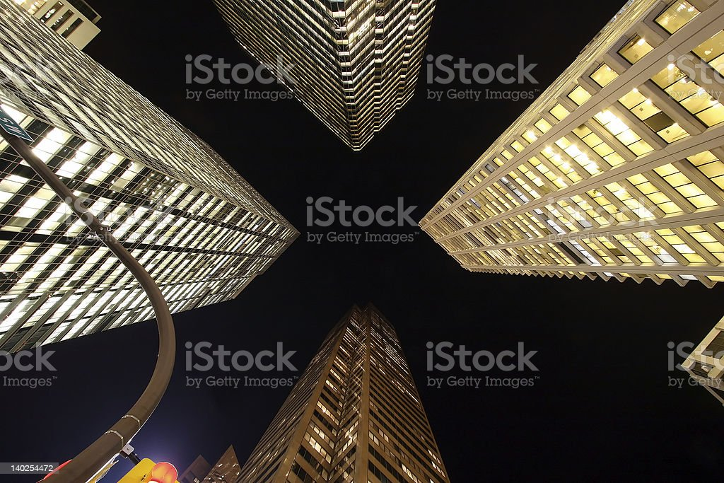 Giants by Night stock photo