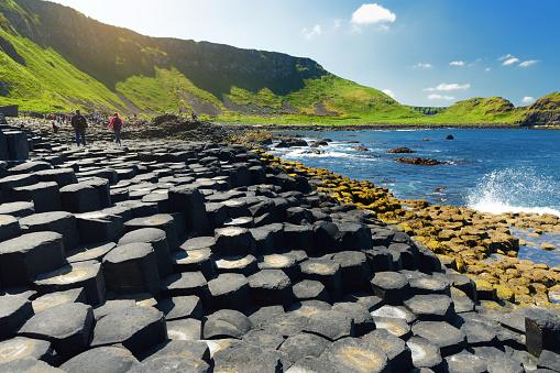istock Giants Causeway, an area of hexagonal basalt stones, created by ancient volcanic fissure eruption, County Antrim, Northern Ireland. 1017973942