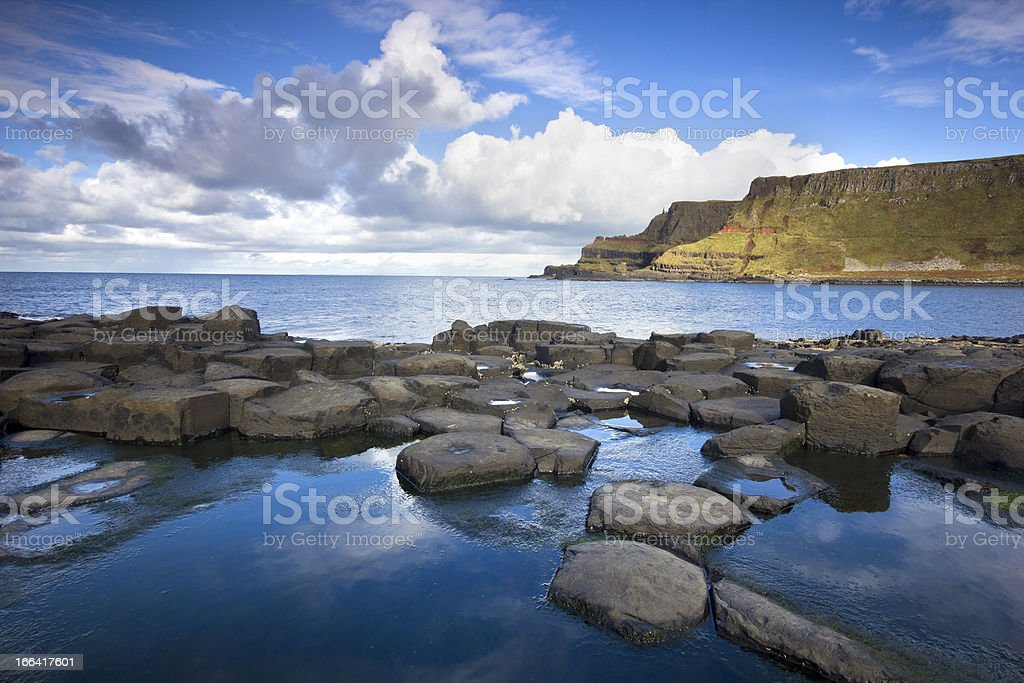 Giant's Causeway and Lacada Point stock photo