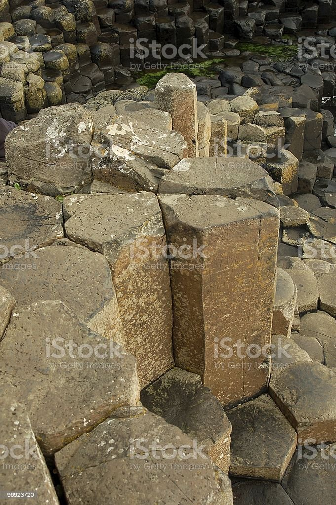 Giant's Causeway in Northern Ireland, UK royalty-free stock photo