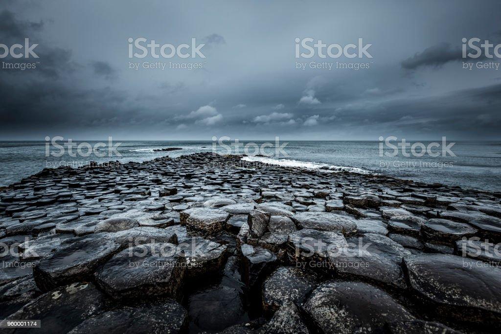 giants causeway, northern ireland stock photo