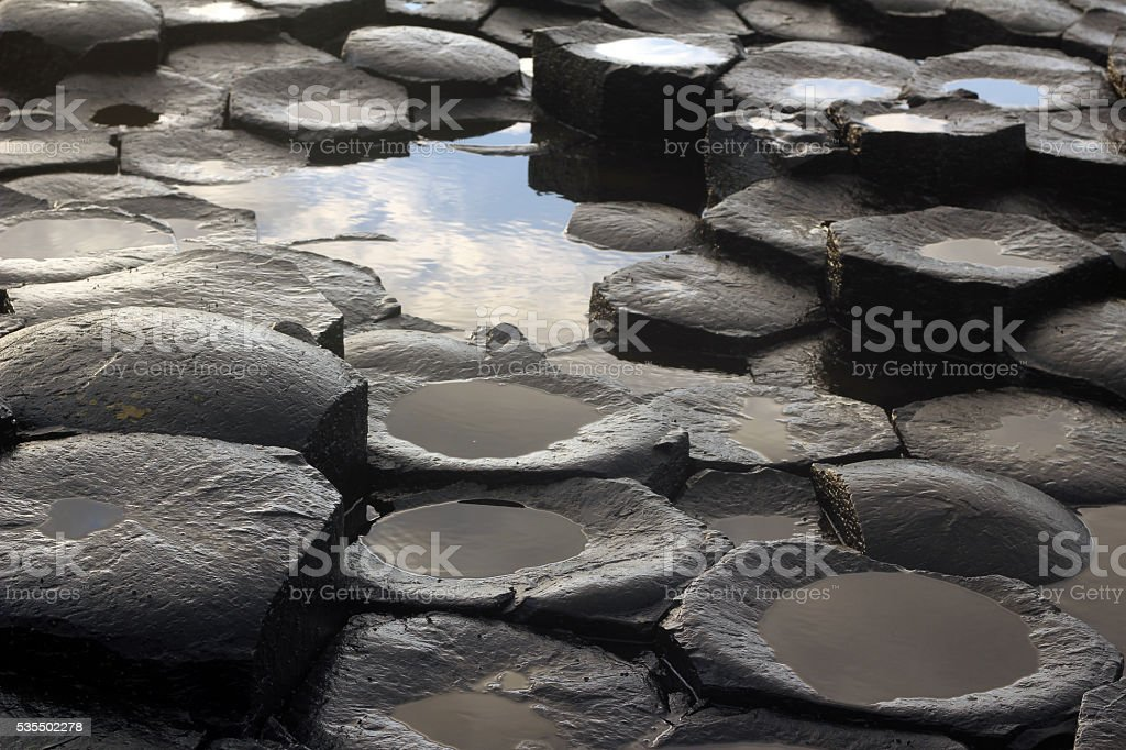 Giant's causeway - tourist site in Northern Irland stock photo