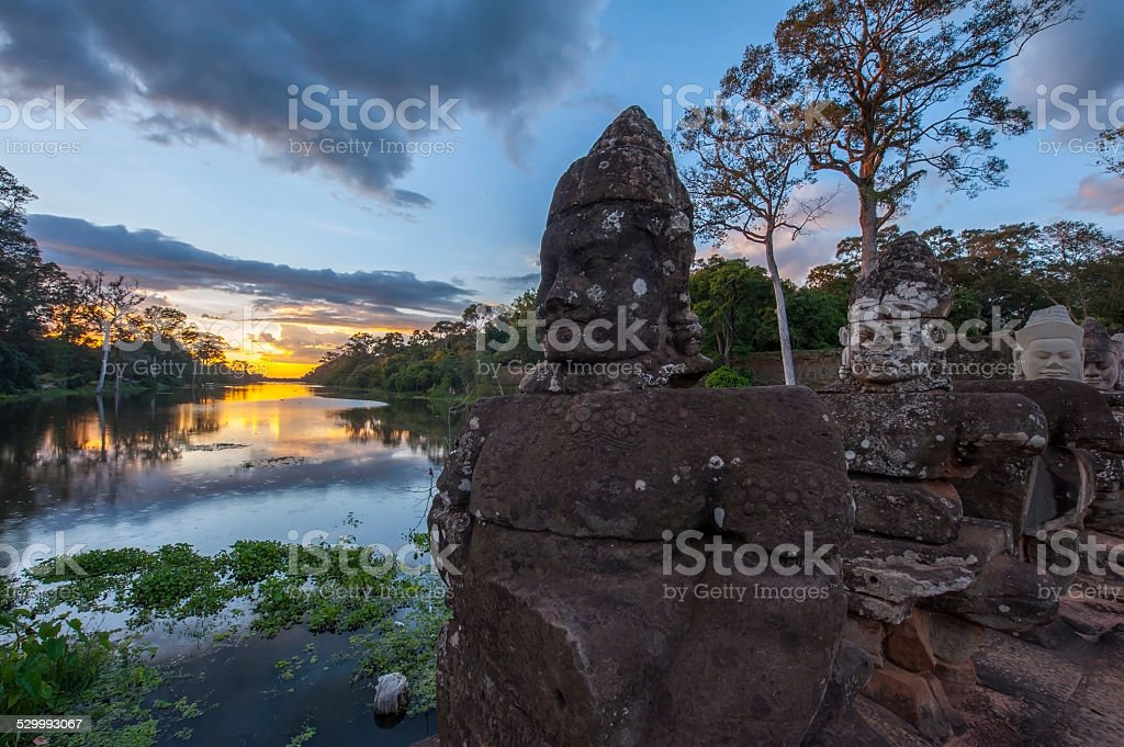 Giants in Angkor Thom stock photo