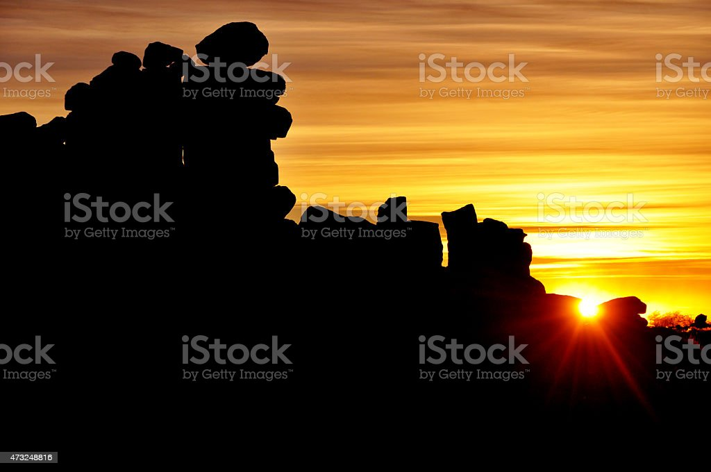 Giant's Playground at Sunset, Keetmanshoop, Namibia, Africa stock photo