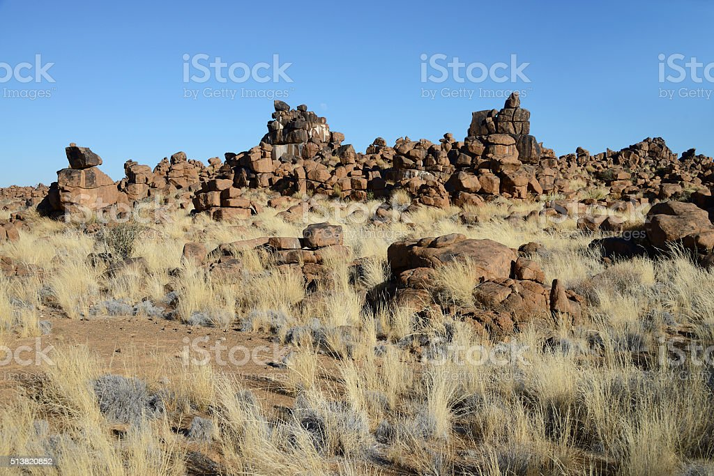 Giants Playground, Keetmanshoop, Namibia stock photo
