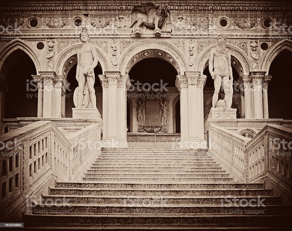 Giant's Staircase at Doge's Palace royalty-free stock photo