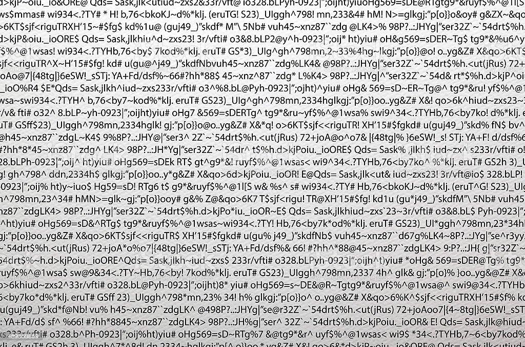 Gibberish text stock photo
