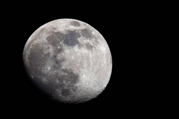 gibbous moon (photo) stock photo
