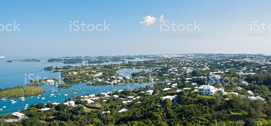 Gibbs Lighthouse widok, na Bermudach. Hamilton Harbor – zdjęcie