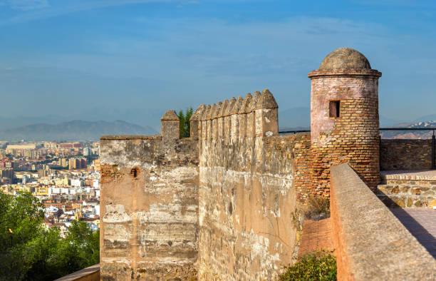 gibralfaro castle in malaga - andalusia, spain - ムーア様式 ストックフォトと画像