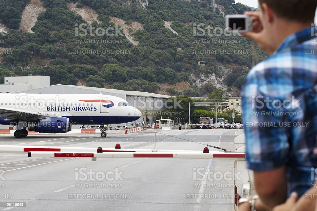 Gibraltar Airport royalty-free stock photo