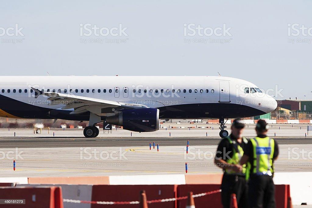 Gibraltar Airport Police stock photo