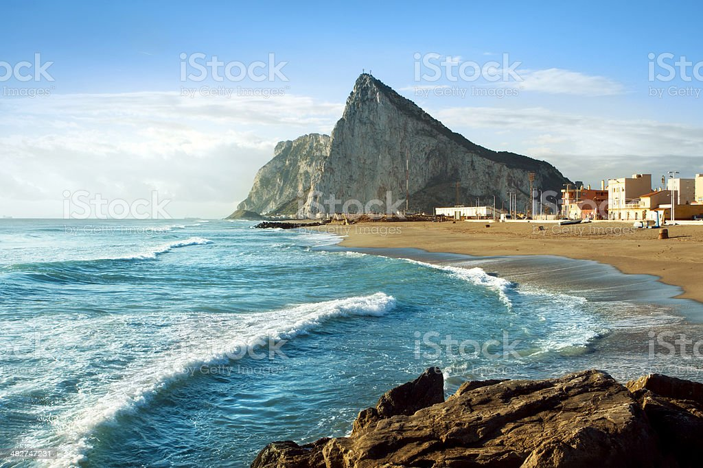 Gibraltar and the Sea stock photo