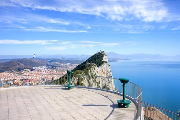 Gibraltar Rock Viewpoint Terrace stock photo