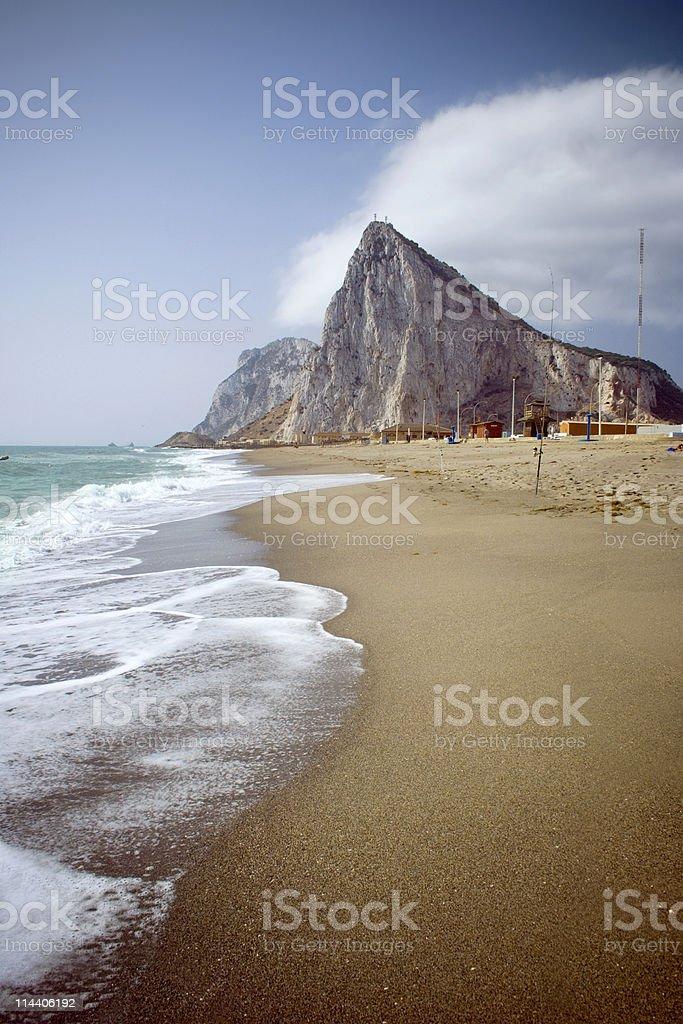 Gibraltar with Beach royalty-free stock photo