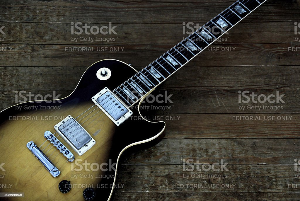 Gibson Les Paul Tobacco Sunburst Guitar stock photo