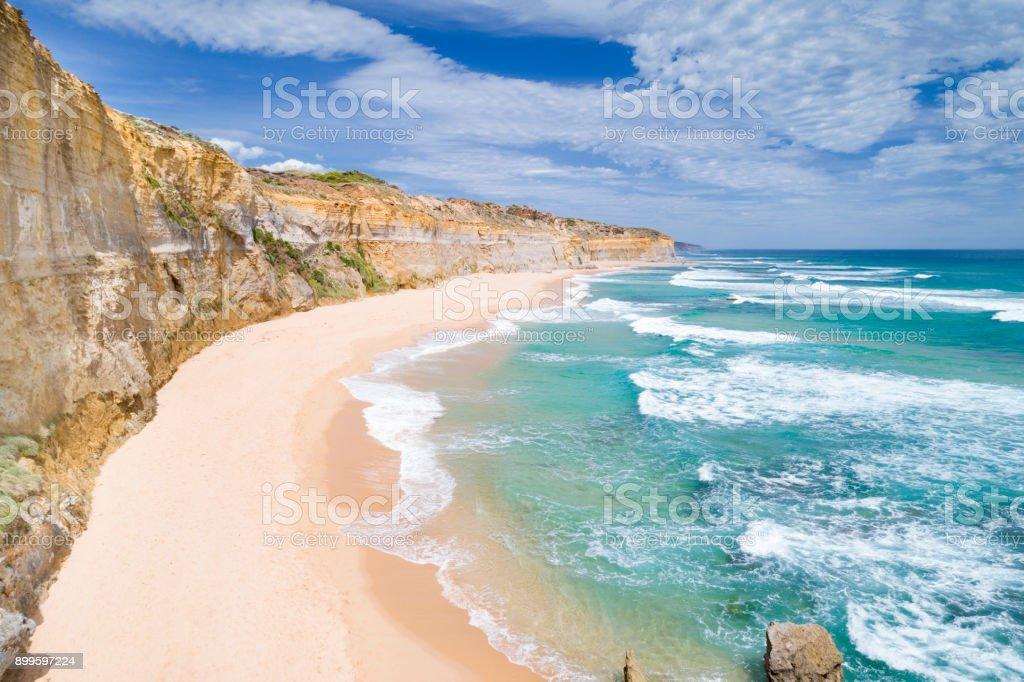 Gibson Steps, Twelve Apostels, Great Ocean Road, Australia stock photo