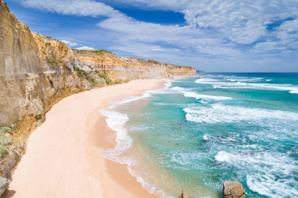gibson steps, twelve apostels, great ocean road, australia - western australia stock pictures, royalty-free photos & images