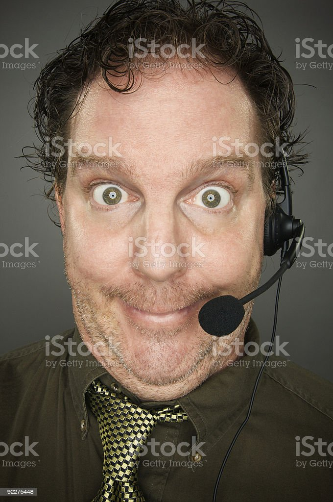 Giddy Businessman royalty-free stock photo