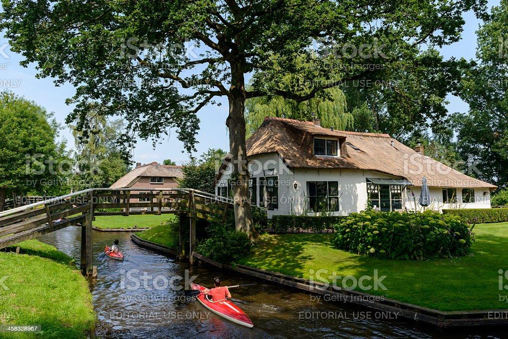 Giethoorn Canoe royalty-free stock photo