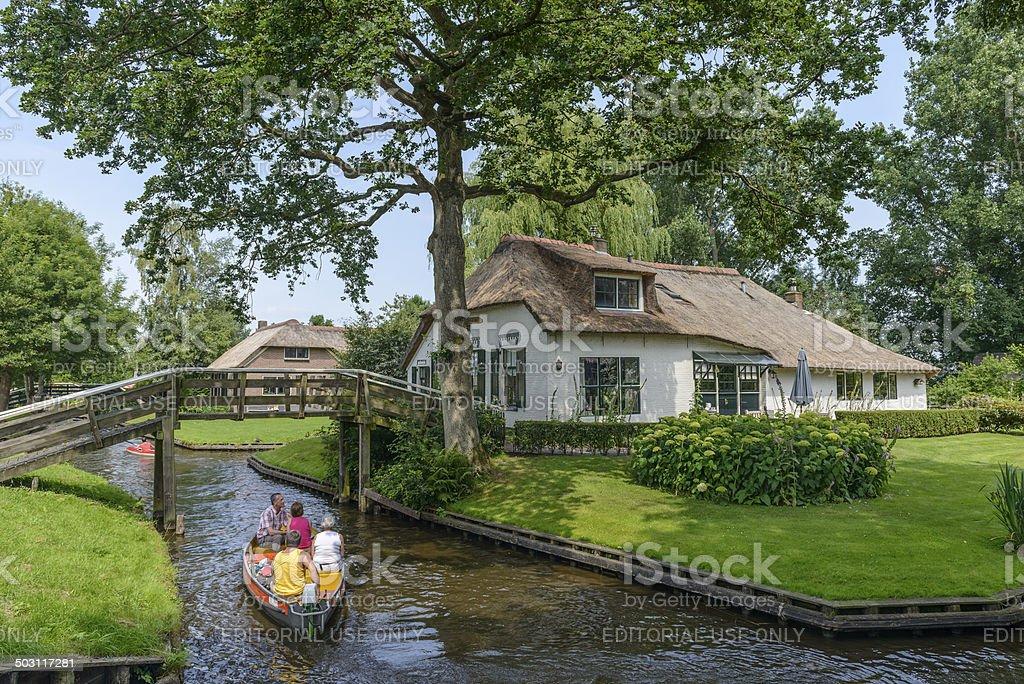 Giethoorn Cottage stock photo
