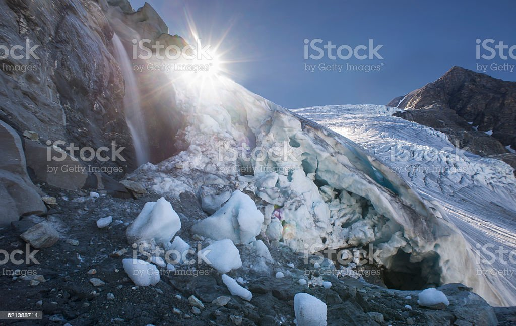 Gietro glacier in the summer. stock photo