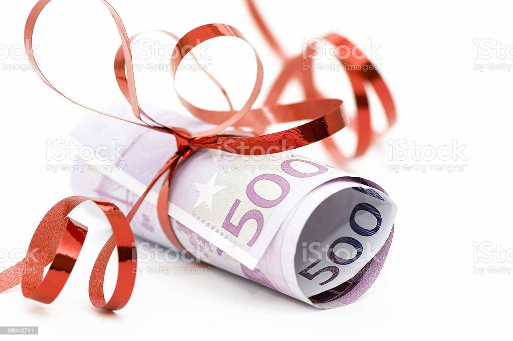 Gift - 500 Euro royalty-free stock photo