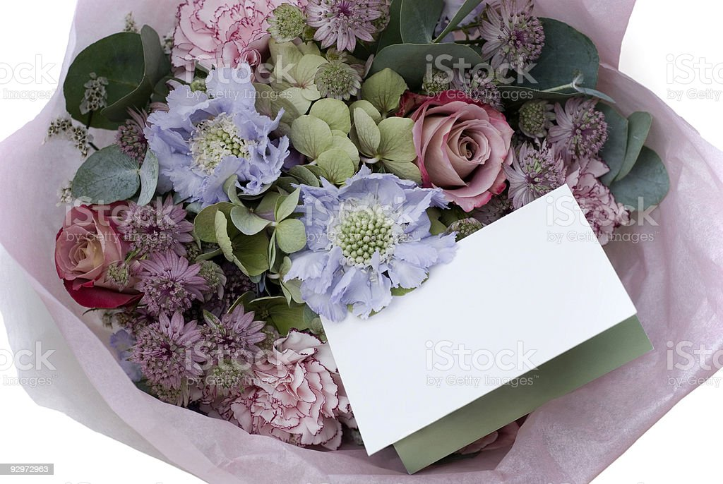 Gift – an old style flower bouquet royalty-free stock photo