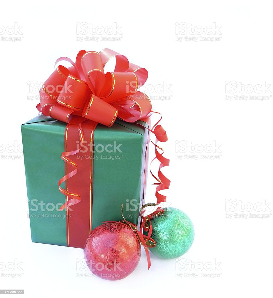 Gift and christmas decoration. royalty-free stock photo