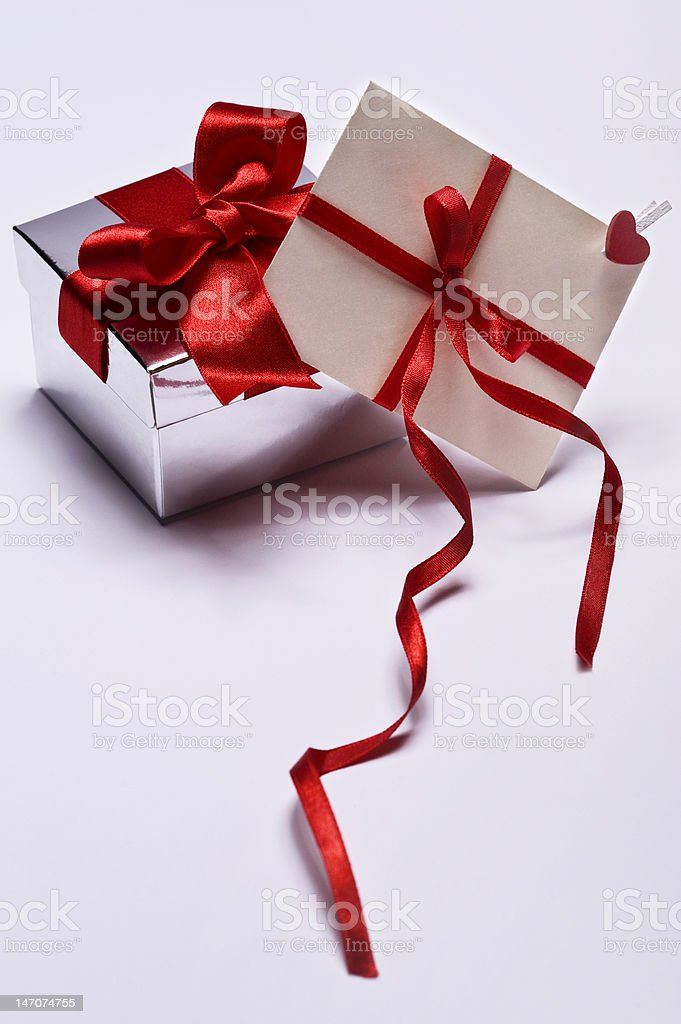 gift and envelope royalty-free stock photo