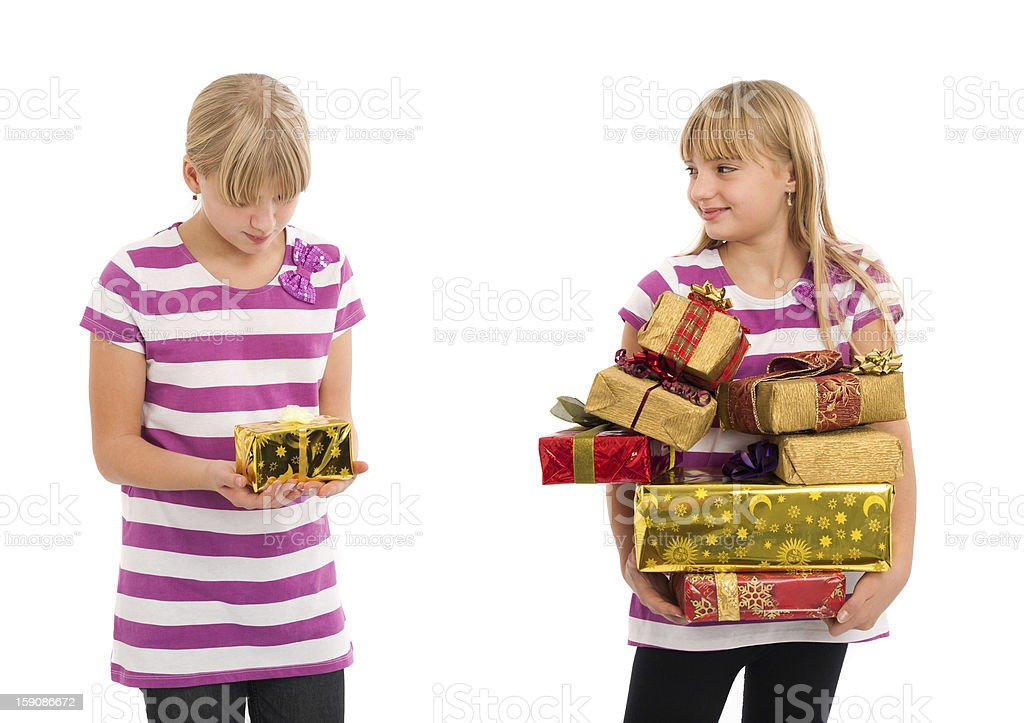 Gift and gloating stock photo