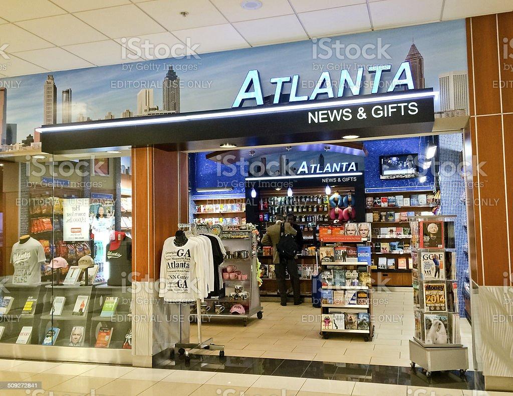 gift and news shop at atlanta airport usa royalty free stock photo