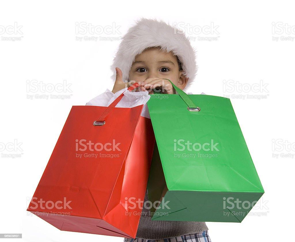 Gift bag Boy royalty-free stock photo