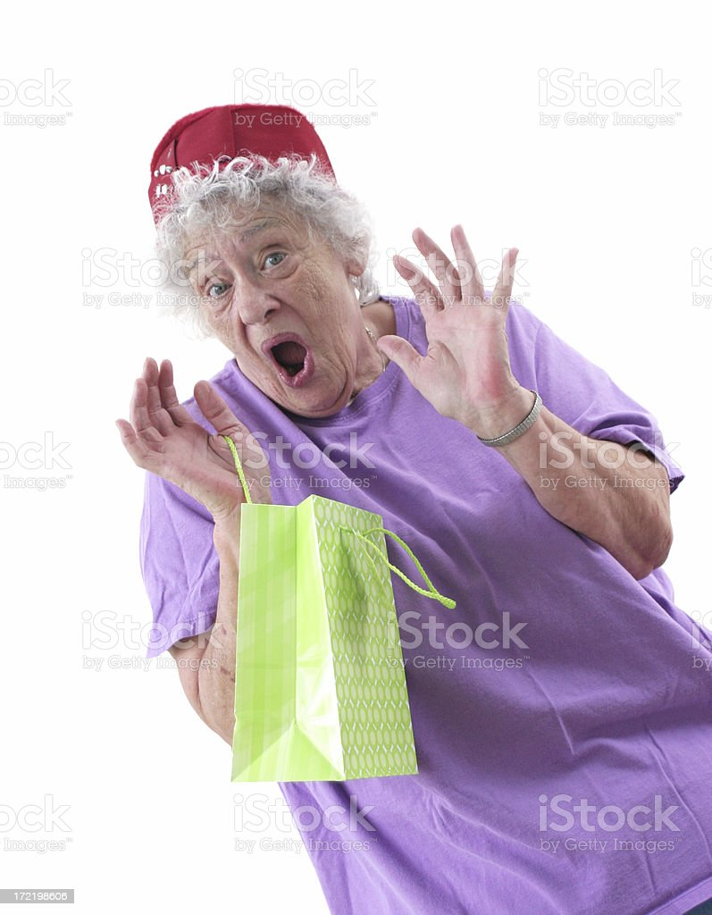 Gift Bag Excitment royalty-free stock photo