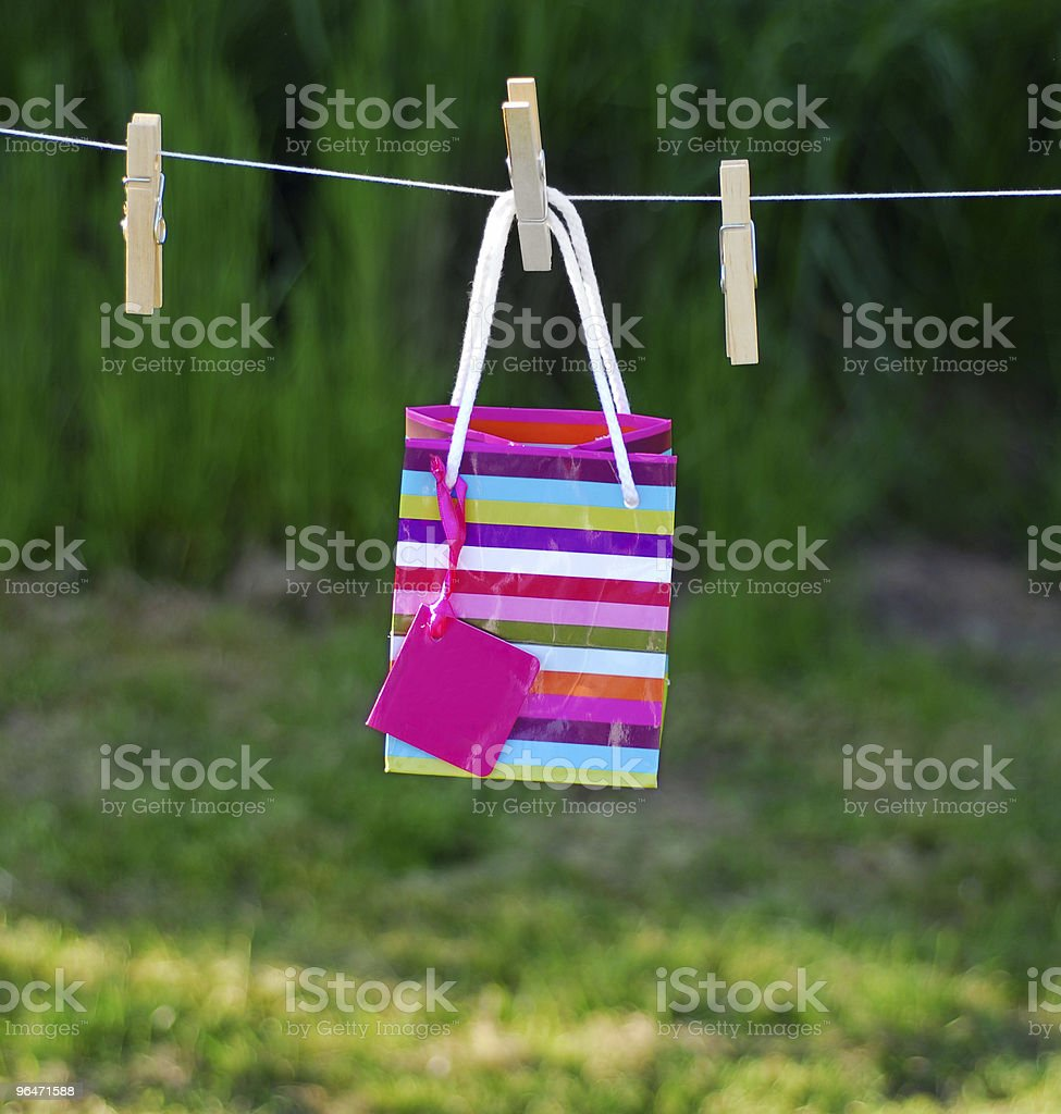 Gift bag royalty-free stock photo