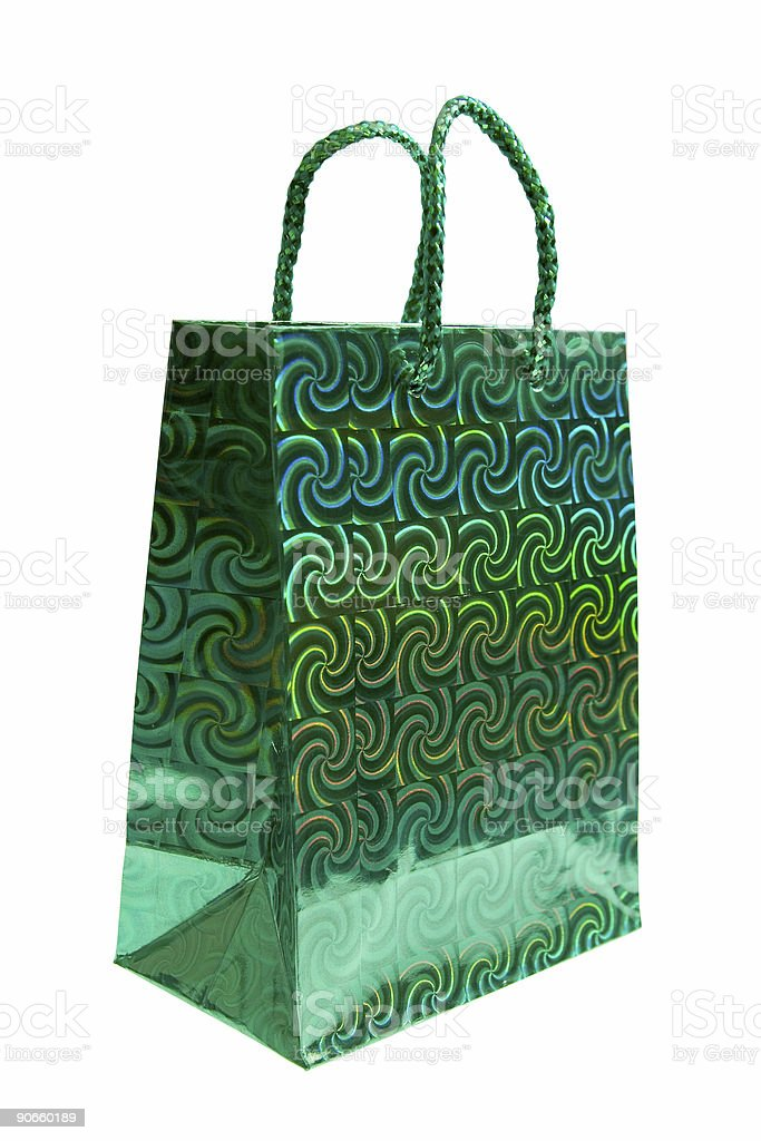 Gift Bag - Psychedelic Green royalty-free stock photo