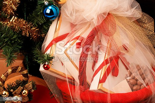 Basket, Gift, Christmas, Box - Container, Christmas Present