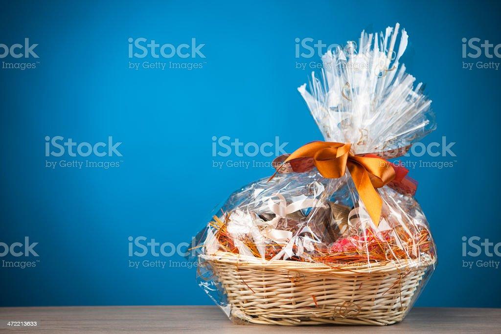 gift basket stock photo