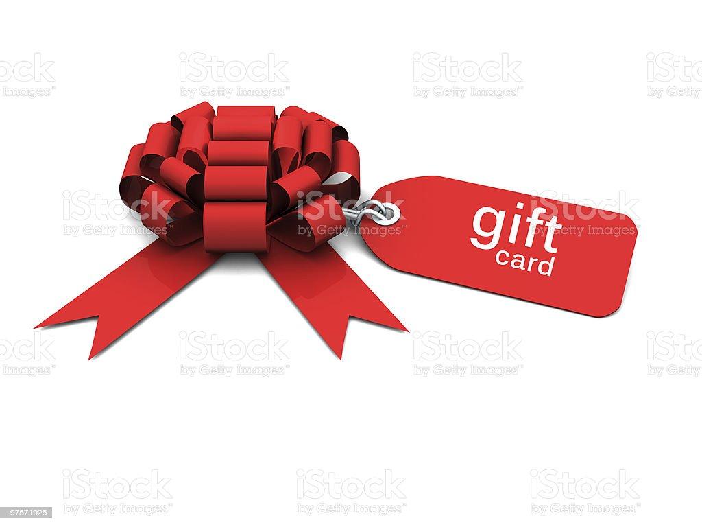 bow cadeau avec Étiquette de prix photo libre de droits