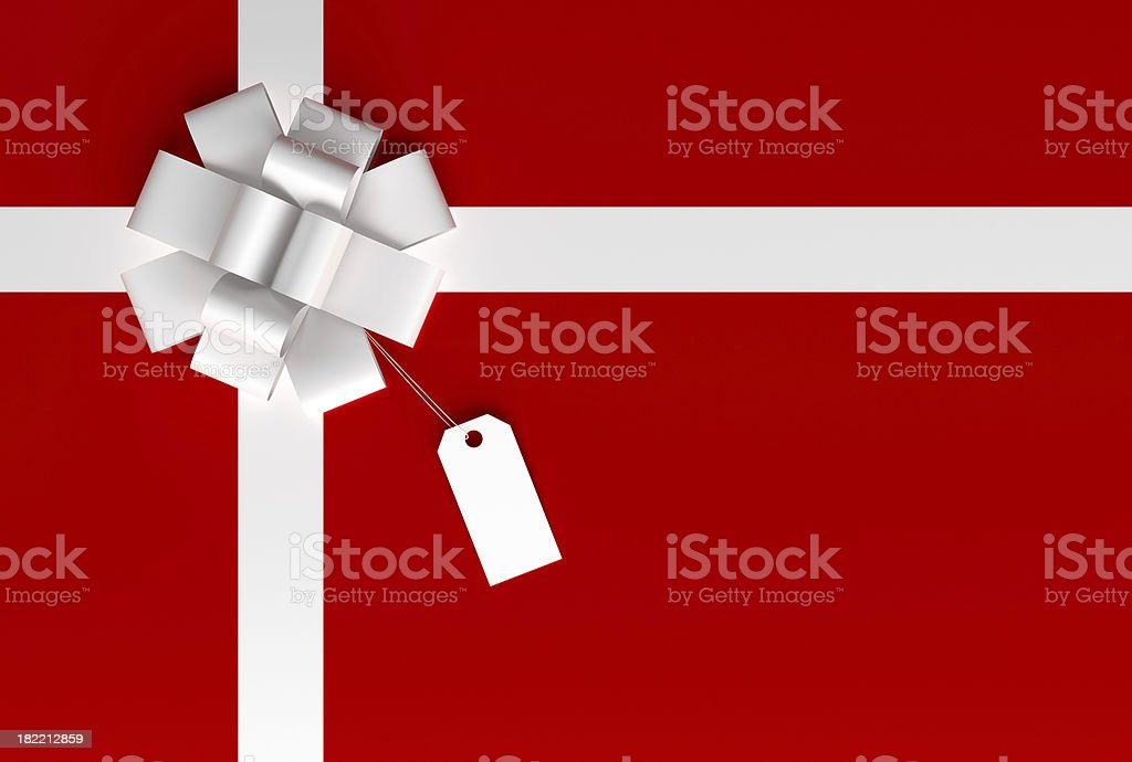 Gift Box and a Tag stock photo