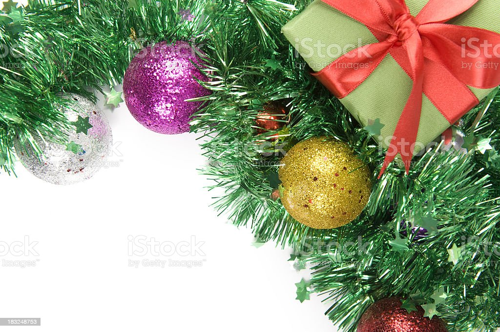 Gift Box and Evening Ball royalty-free stock photo