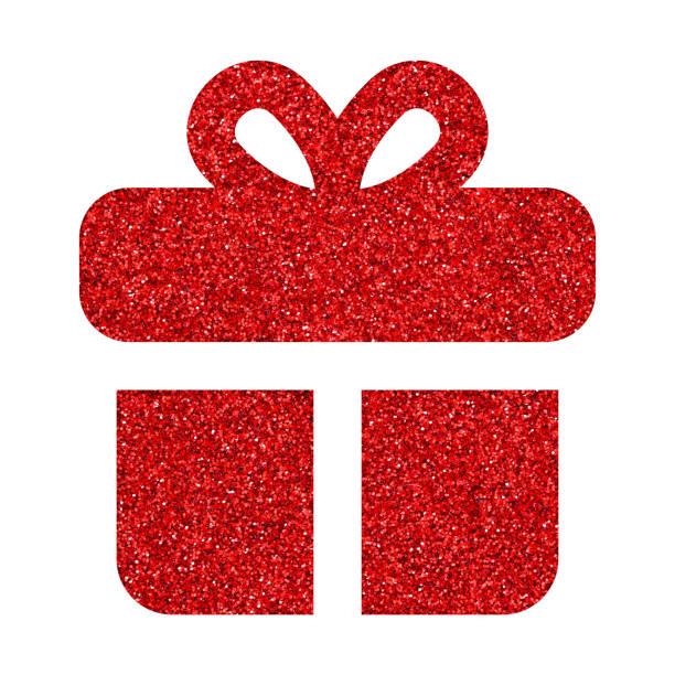 白い背景の上のギフト ボックスのアイコン - アイコン プレゼント ストックフォトと画像