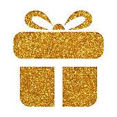 istock Gift box icon on white background 1170298793