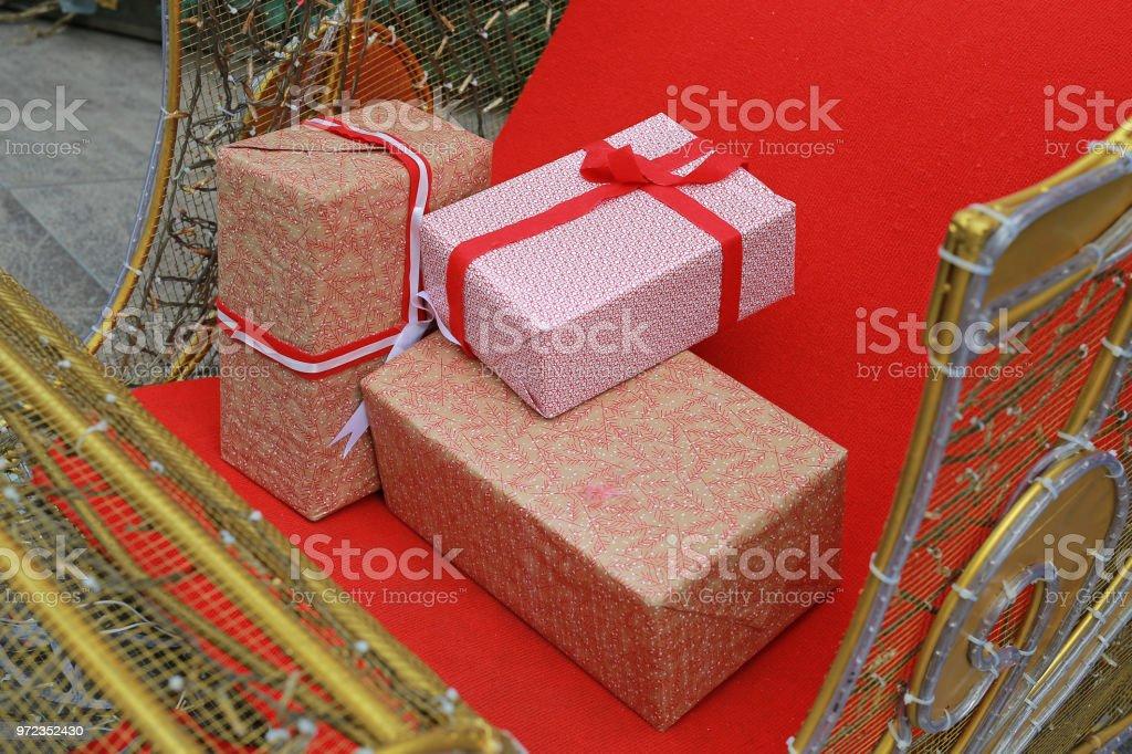 Geschenkkarton Weihnachten.Geschenkkarton Weihnachten Und Frohes Neues Jahr Mal