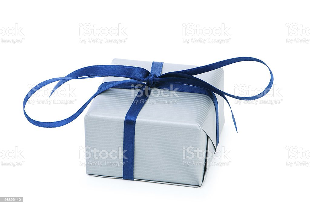 Gift box isolated on the white background royalty-free stock photo