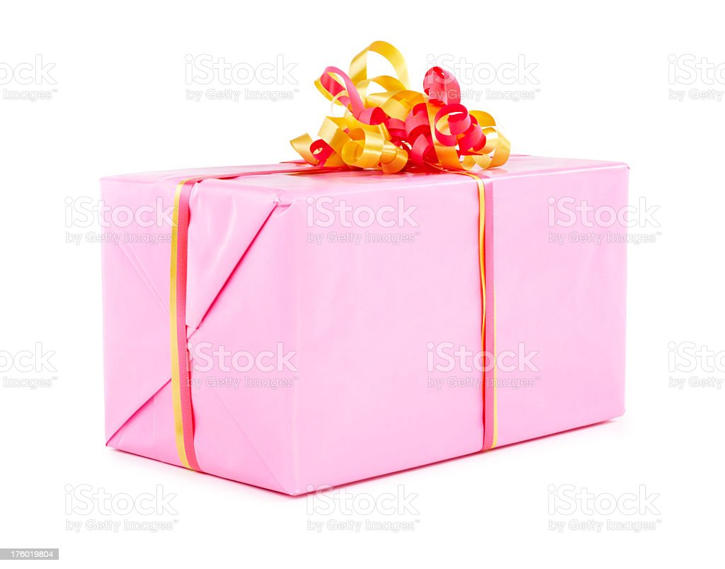 Gift box isolated royalty-free stock photo