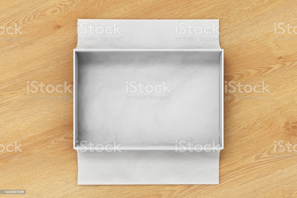 Gift Box Mockup With Unfolded Wrapping Paper Stock Photo Download Image Now Istock